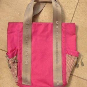 Marc jacobs hot pink nylon bag sport gym bag tote